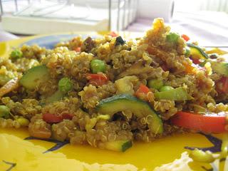 Quinoa con verduras casa muros - Cocinar quinoa con verduras ...